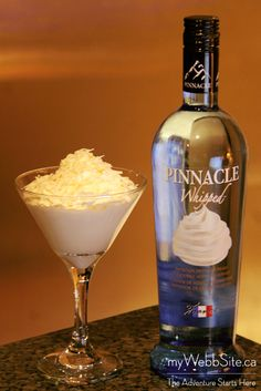 2 oz Pinnacle Whipped Cream Vodka 1 oz Coconut Rum 1 oz Half & Half Top with whipped cream and shredded coconut