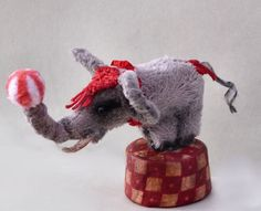 For sale on ebay  ITEM # 151128225129 One of a kind Spider Sisters original ~micro mini Elephant