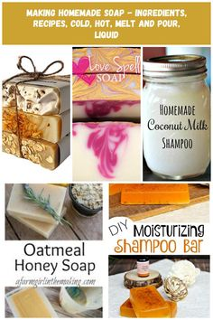 Set of 3 Handmade Natural Soaps Lavender Oatmeal & Calendula Herbal Ingredients Soaps diy soap Making Homemade Soap - Ingredients, Recipes, Cold, Hot, Melt and Pour, Liquid