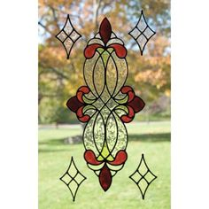Hummingbird Leaf Berry Scroll Frost Etch Stained Glass Effect Window Sticker