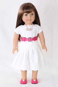 American Girl Doll Clothes Embroidered Cotton by ModernDollWorld