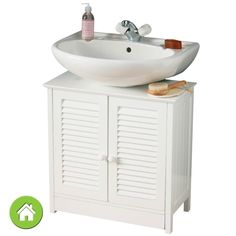 White Under Sink Bathroom Storage Cabinet weatherby bathroom pedestal sink storage cabinet | pedestal sink