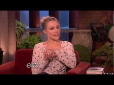 Kristen Bell's Sloth Meltdown--It doesn't matter if you like Kristen Bell or Ellen or sloths, this video is HILARIOUS!