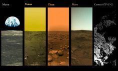 A picture of every extraterrestrial body that robots from mankind have landed on and photographed - Imgur