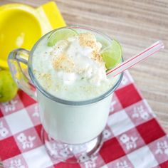 Key Lime Pie Milkshake #milkshake #dessert #food #vegan #pie