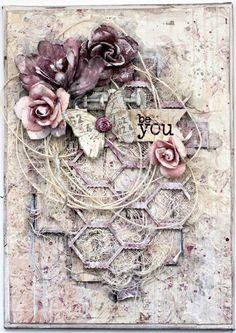 Be You. Mixed media canvas - http://Scrapbook.com