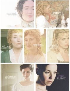 Jane Austen heroines.  Not the right Emma, and Mansfield Park definitely needs to be remade.