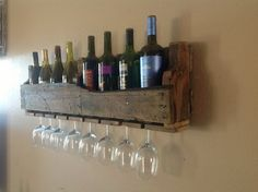 Reclaimed wood wine rack medium summer sale by DelHutsonDesigns