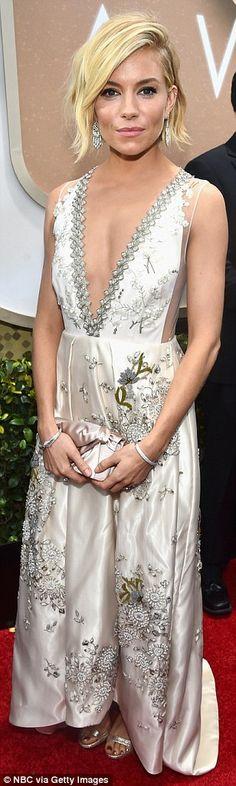 87f1600b39 Her big day! Sienna Miller wore a wedding-worthy Miu Miu gown