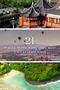 21 destination ideas, from Breckenridge to Zanzibar. Tourist traps need not apply. Add these to your bucket list.