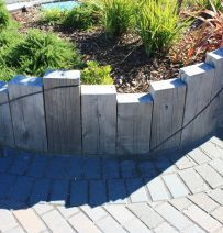 Upright railway sleeper garden bed nature outdoor decor raised bed projects with railway sleepers workwithnaturefo