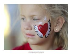 Angel Heart Face Paint for Valentine's Day