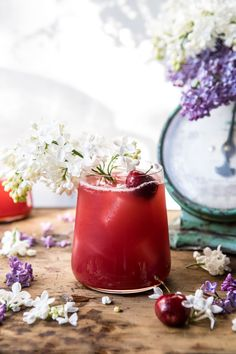 Sweet summer cherries, hibiscus, lemon, and a splash of vodka come together to make this refreshing pitcher cocktail. It's delicious, pretty, and perfect for warm summer days or nights. Try serving this up at your next summer party!