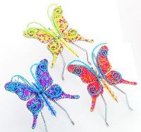 mini beaded butterfly figurine - mini beaded animals