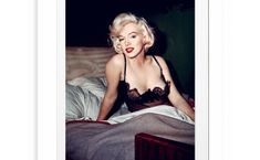 In Bed With Marilyn Monroe Photographic Print Image Republic are a French brand that likes images which are different, strong and which Marilyn Monroe, Image Republic, Legendary Pictures, Like Image, French Brands, Creative Advertising, Black Wood, Girl Power, Sci Fi