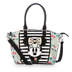Disney Minnie Mouse Floral Crossbody Bag by Loungefly | Disney StoreMinnie Mouse Floral Crossbody Bag by Loungefly - You'll be the epitome of style while toting this spacious crossbody bag. Part of our Disney Boutique Collection, this carry-all stars Minnie in faux leather fashion among a trendy mix of stripes and florals.