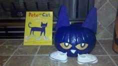sarah's character pumpkin... Pete the Cat
