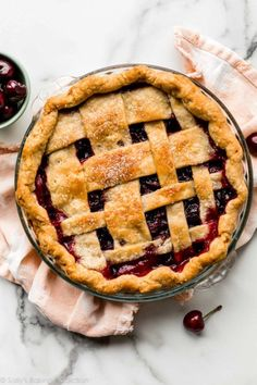 How to make cherry pie completely from scratch with homemade thick cherry pie filling and a deliciously flaky homemade pie crust. Truly one of the best summer desserts with cherries! Cherry Desserts, Cherry Recipes, Pie Recipes, Baking Recipes, Dessert Recipes, Pastry Recipes, Baking Ideas, Best Summer Desserts, Pie