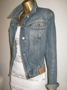 GUESS Western Style Washed Denim Jacket Size L   eBay