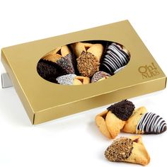 8-Pc. Chocolate Dipped Hamantashen Gift Box $11.95