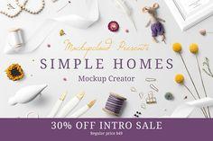 Simple Homes Mockup Creator by Mockup Cloud on @creativemarket