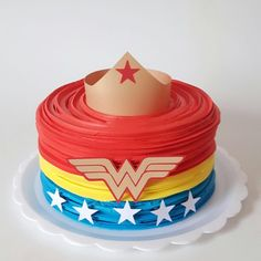 13 Wonder Woman Cakes to Inspire Your Daughter to Be the Strong Girl She Is- Baby, Toddlers, Kids & Parenting Girl Superhero Cake, Superhero Birthday Cake, Adult Birthday Cakes, Birthday Cakes For Women, First Birthday Parties, 21st Birthday, Cake Birthday, Birthday Ideas, Wonder Woman Birthday Cake