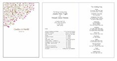 Programs. Printable Wedding Invitations Paisley Candice Suite: Pink and Brown