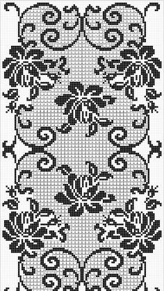 Crochet Curtain Pattern, Crochet Doily Diagram, Crochet Curtains, Crochet Tablecloth, Filet Crochet, Crochet Doilies, Knit Crochet, Crochet Patterns, Cross Stich Patterns Free