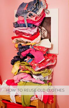 How to reuse old clothes #howto, #helpful, #useful, #tips, #advice Recycled Crafts, Diy And Crafts, Recycle Old Clothes, Diy Clothing, Cycling Clothing, Diy Recycle, How To Make Clothes, Clothes Crafts, T Shirt Diy