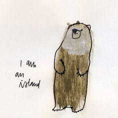 I Am An Island print by corduroy on Etsy, $30.00