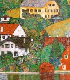 """Klimt's """"Houses at Unterach"""""""
