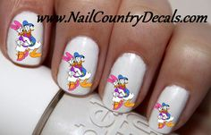 50pc Mr N Ms Duck Donald and Daisy Duck Nail Decals Nail Art Nail Stickers Best Price NC787