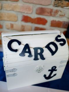 what is good lighting for a nautical wedding | Nautical Card Box nautical baptism, idea, receptions, weddings ...