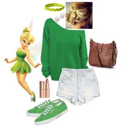 Disneybounding - tinkerbell more disney bound outfits casual, Disney Character Outfits, Cute Disney Outfits, Disney Princess Outfits, Disney Dress Up, Disney Themed Outfits, Character Inspired Outfits, Cute Outfits, Disney Clothes, Disney Bound Outfits Casual