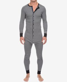 From rustic camping trip to richly appointed ski lodge, 2(x)ist offers a warm base layer or standalone pajama with this season-right, one-piece union suit. | Cotton | Machine washable | Imported | Cre