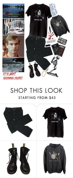 """""""Serial Killers and Chill?"""" by unholy-soul ❤ liked on Polyvore featuring Marc by Marc Jacobs, Dr. Martens and J.A. Henckels"""