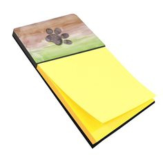 Dog Paw Watercolor Sticky Note Holder BB7359SN