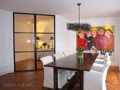 Stalen deurstel   www.simply-steel.nl