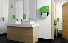Popping colors of 'Signature' bathroom accessories improve hygiene