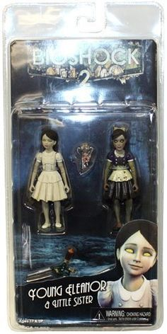 """BioShock 2: Bioshock Eleanor Lamb & Little Sister 3 3/4"""" Action Figure 2-Pack by NECA. $24.44. A special 2 pack featuring the Little Sister and Young Eleanor Lamb. The Little Sister and Eleanor Lamb stand 3 3/4"""" and are fully articulated. Accessories include ADAM syringes and 2 small Big Daddy Dolls for the girls to hold."""