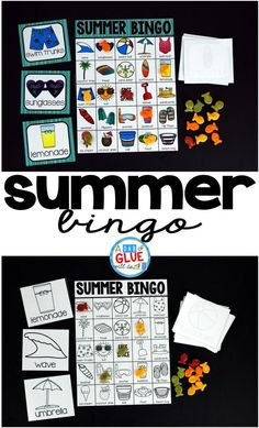 Play Bingo with your elementary age students for a fun summer themed game… Creative Activities For Kids, Summer Activities For Kids, Creative Kids, Learning Activities, Teaching Ideas, Teaching Resources, Kindergarten Learning, End Of Year Party, End Of School Year