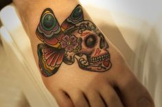 A sugar skull butterfly -- I love this design of the death's-head moth. http://thestir.cafemom.com/beauty_style/190434/25_moth_butterfly_tattoos_so