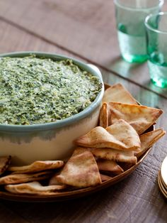 Warm Spinach and Artichoke Dip recipe from Ellie Krieger via Food Network