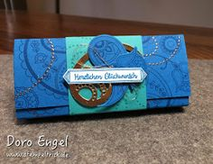 Stampin Up! Pacific Blue, Bermuda Bay, Copper, Paisleys