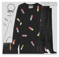 """dress"" by marilia-magniti ❤ liked on Polyvore featuring Gucci, Moschino, Ippolita, Fallon and Balmain"
