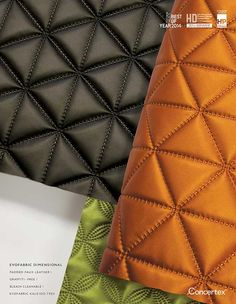 Advertisements - Concertex ® | Coated Fabrics, Textiles, Wall Surfaces, NappaTile