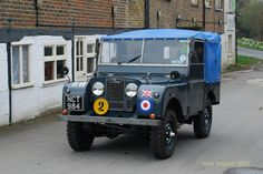 "Land Rover Series One 86"" Soft Top. Green with canvas blue."