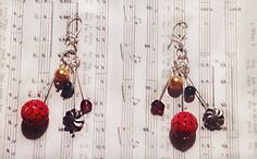 Dangly Beaded Earrings by Jaceyscreations on Etsy