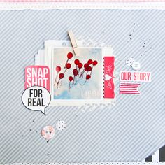 Clean und Simple Scrapbooking Layout. - Janna Werner | Papiersalat