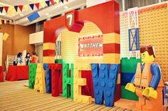 Matthew's Lego Movie Themed Party – Stage Area